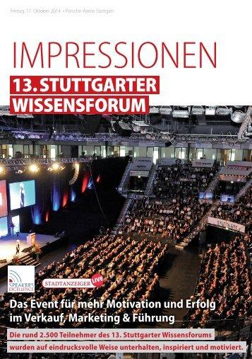 13. Stuttgarter Wissensforum - IMPRESSIONEN