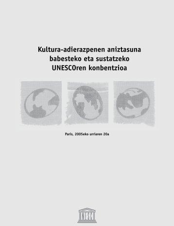 Kultura-adierazpenen aniztasuna babesteko eta ... - Unesco Etxea