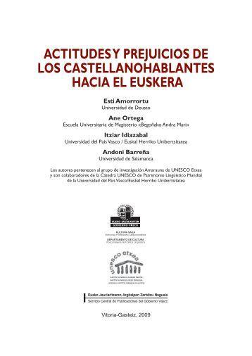 actitudes y prejuicios de los castellanohablantes ... - Unesco Etxea