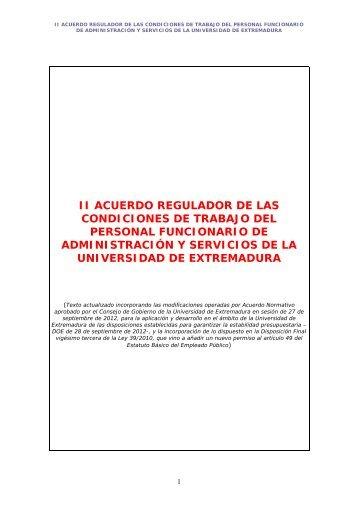 ii acuerdo regulador de las condiciones de trabajo del personal ...