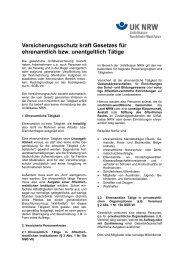 Versicherungsschutz für ehrenamtlich Tätige - Unfallkasse NRW