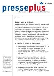 Pressemitteilung - Unfallkasse NRW