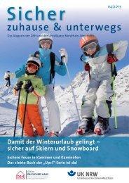 sicher auf Skiern und Snowboard - Unfallkasse NRW