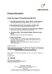 Ungarn Pressedienst Mai 2011