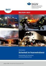 GUV-I 8651 Sicherheit im Feuerwehrdienst -