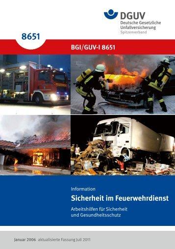 """GUV-I 8651 Sicherheit im Feuerwehrdienst - """"Publikationen"""" der ..."""