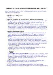 Referat af Ungdomsskolebestyrelsesmøde Tirsdag den 5. april 2011