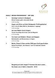 Messe-Pressedienst CMT 2008 - Ungarn - Keine Berge und doch ...