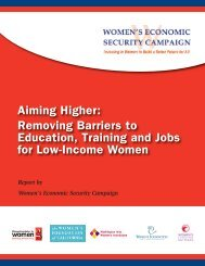 Aiming Higher: Removing Barriers to Education, Training and Jobs ...