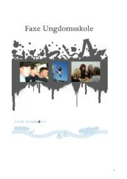 Kære ung i Faxe kommune - Faxe Kommunale Ungdomsskole