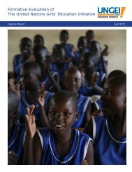 Uganda Evaluation - United Nations Girls' Education Initiative