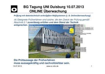Vortrag SV Otto, 10.07.2013 Duisburg - Unfallkasse NRW