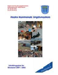 Udviklingsplan for Skoleåret 2001 / 2002 - Faxe Kommunale ...