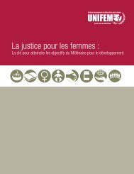 La justice pour les femmes : - United Nations Girls' Education Initiative