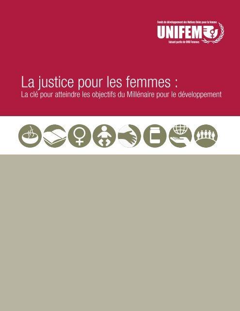 La justice pour les femmes : - United Nations Girls' Education Initiative