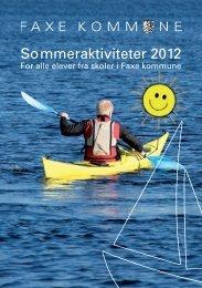 Sommeraktiviteter 2012 - Faxe Kommunale Ungdomsskole