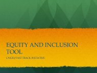 equity and inclusion tool - United Nations Girls' Education Initiative