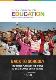 BACK TO SCHOOL? - Global Campaign for Education