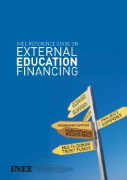 INEE Reference Guide on External Education Financing