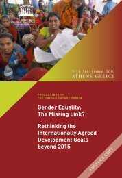 Gender Equality: The Missing Link? - unesdoc - Unesco