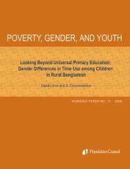Looking beyond universal primary education: Gender differences in ...