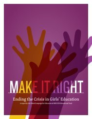 Ending the Crisis in Girls' Education - Global Campaign for Education