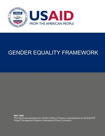 gender equality framework - United Nations Girls' Education Initiative