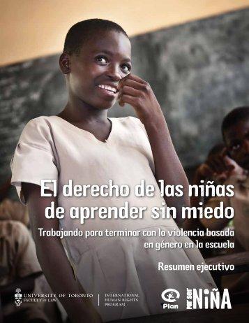 El derecho de las niñas de aprender sin miedo