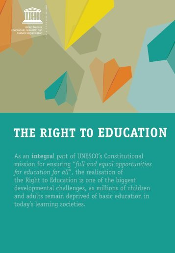 The Right to Education; 2008 - unesdoc - Unesco