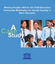 Winning people's will for girl child education: community ... - Unesco