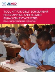 tool kit for girls' scholarship programming and related enhancement ...