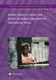 Gender Equity in Junior and Senior Secondary Education in Sub ...