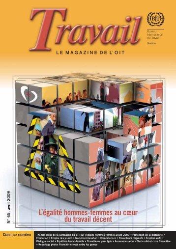 L'égalité hommes-femmes au coeur du travail décent (pdf 2.35 MB)