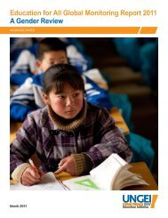 A Gender Review Education for All Global Monitoring Report 2011