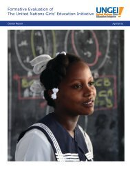 formative evaluation of the partnership [PDF]. - United Nations Girls ...