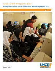 Gender and Skills Development: A Review - United Nations Girls ...