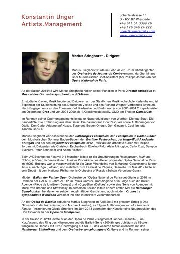 Konstantin Unger Artists.Management