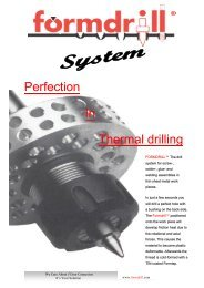 Perfection In Thermal drilling - Formdrill