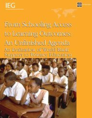 From Schooling Access to Learning Outcomes - World Bank