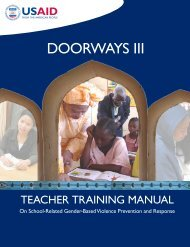 Doorways III, Teachers Training Manual - United Nations Girls ...