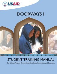 Doorways I Student Manual - HIV/AIDS Clearinghouse - Unesco