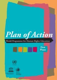 Plan of Action: World Programme for Human ... - unesdoc - Unesco