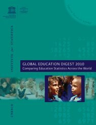 Global Education Digest 2010 - Institut de statistique de l'Unesco