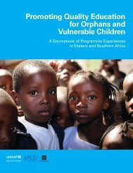 Promoting Quality Education for Orphans and Vulnerable ... - Unicef