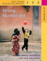 EFA Global Monitoring Report 2007 - Unesco