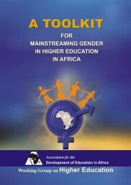 A toolkit for mainstreaming gender in higher education in Africa