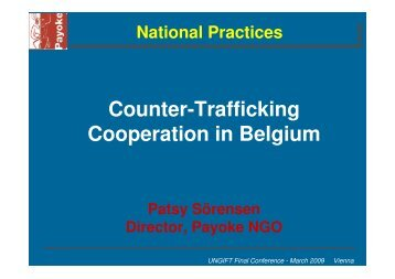 Counter-Trafficking Cooperation in Belgium