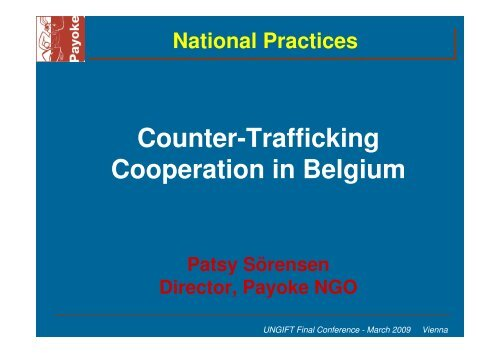 Counter-Trafficking Cooperation in Belgium