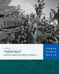 """Hellish Work"" - Human Rights Watch"