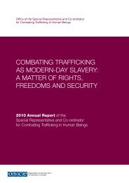 combating trafficking as modern-day slavery: a matter of ... - OSCE